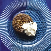Brown bread, walnut and golden syrup steamed puddings
