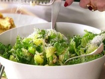 Brussels sprout leaf salad