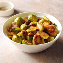 Brussels sprouts with pecans & honey