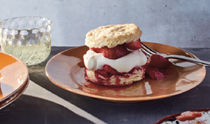 Buttermilk biscuit shortcakes