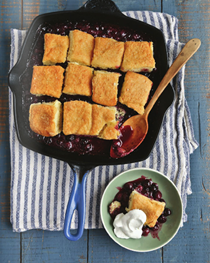 Buttermilk blueberry cobbler