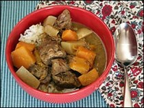 Butternut squash, coconut and lamb stew