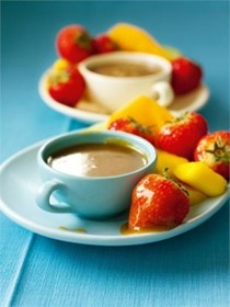 Butterscotch fruit fondue