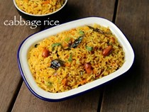 Cabbage rice (Cabbage pulao, Spicy cabbage pulav)