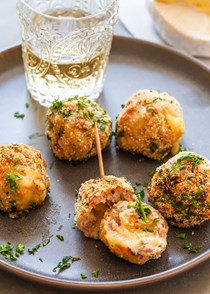 Camembert-stuffed sausage balls