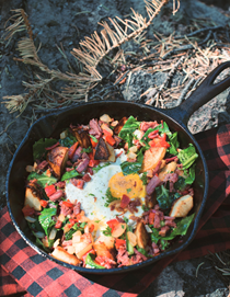 Campfire corned beef hash