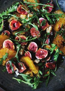 Caramelised fig, orange and feta salad