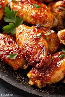 Caribbean pineapple baked chicken wings