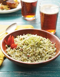 Caribbean rice with cilantro & lime