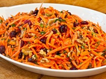 Carrot slaw with cranberries and toasted walnuts (Serious Salads)