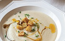 Cauliflower and celery root soup
