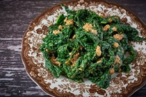 Cavolo nero with hazelnut pesto