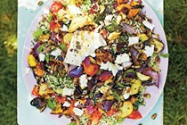 Chargrilled feta & vegetables with tabbouleh