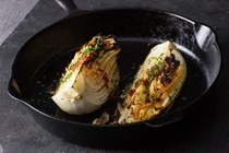 Charred napa cabbage with Calabrian chiles