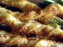 Cheese and rosemary bread sticks