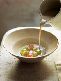 Chestnut and apple soup (Velouté de chataignes)