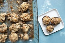 Chicken and cheese stuffed mushrooms