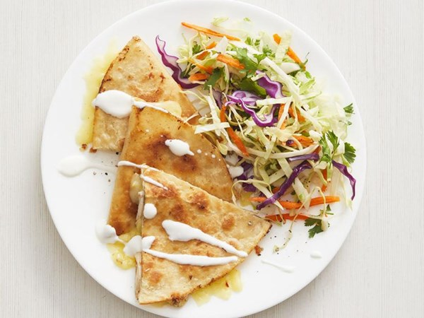 Chicken And Pepper Jack Quesadillas With Cilantro Slaw Recipe Eat