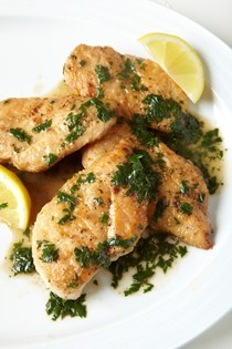 Chicken cutlets with quick pan sauce