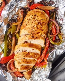 Chicken fajitas foil packets