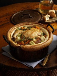 Chicken in a pot: the garlic and lemon version