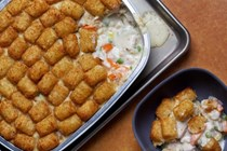 Chicken pot Tot hotdish