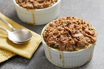 Chicken potpies with crumble crust