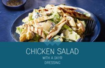Chicken salad with a skyr dressing
