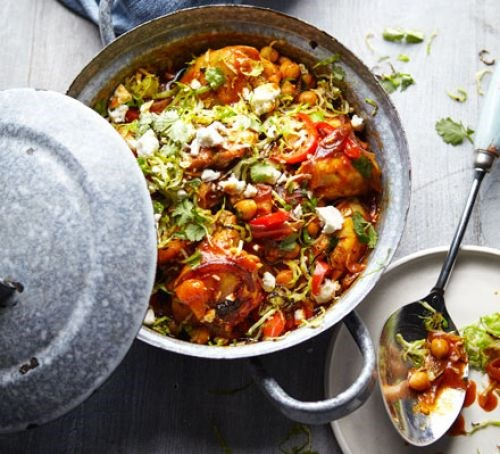 Chicken tagine with spiced brussels feta recipe eat your books view larger forumfinder Choice Image