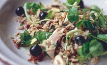 Chicken, wild rice & blueberry salad