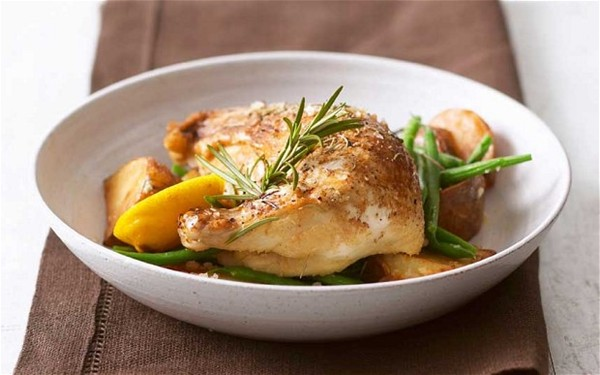 Chicken with anchovies, lemon and rosemary