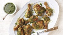 Chimichurri roast chicken