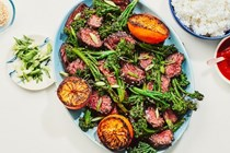 Chinese five-spice steak with oranges and sesame broccolini