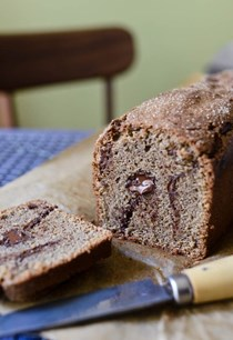 Chocolate buckwheat pound cake