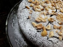 Chocolate, hazelnut & sherry cake