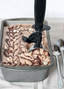 Chocolate malt mocha crunch ice cream