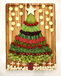 Christmas tree snack board