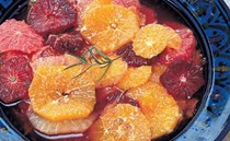 Citrus fruit and rosemary compote