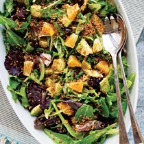 Citrus salad with crispy quinoa