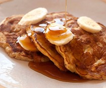 CJ's spiced banana pancakes