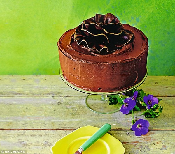 Classic chocolate fudge sandwich cake
