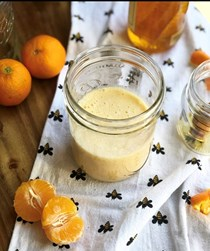 Clementine, honeycomb and ginger smoothie