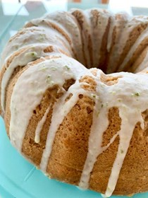 Coconut & lime bundt cake