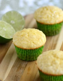 Coconut lime muffins