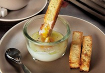 Coddled eggs with truffle butter