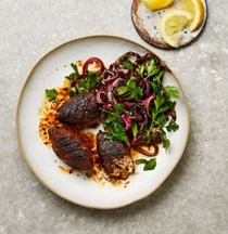 Coffee-and-chilli-rubbed chicken koftas