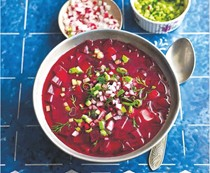 Cold beetroot soup (Kholodnyk)