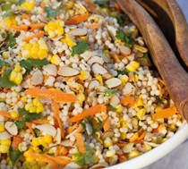 Corn and pearl couscous salad