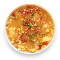 Corn and tomato soup