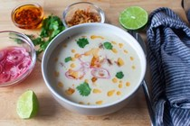 Corn coconut soup